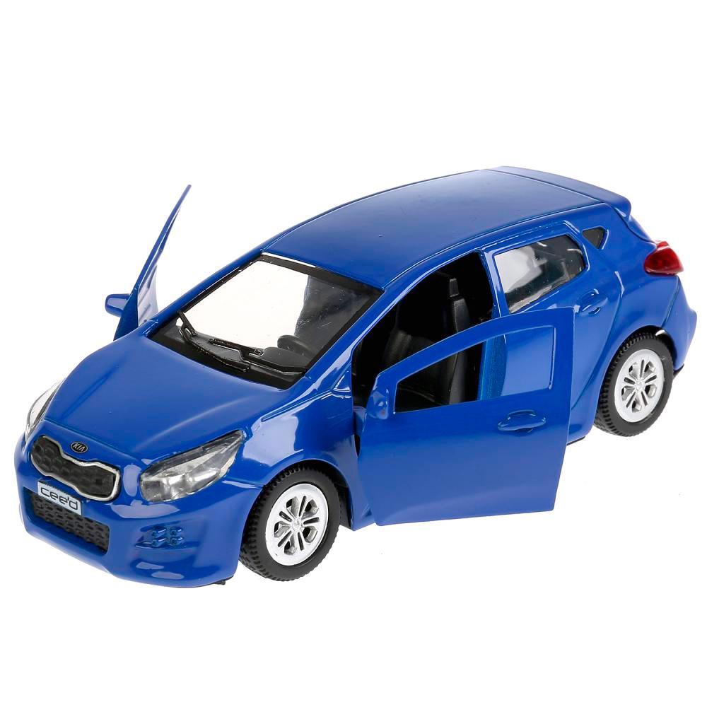 Купить Машина металлическая Kia Ceed 12 см, открываются двери, инерционная, цвет - синий, Технопарк
