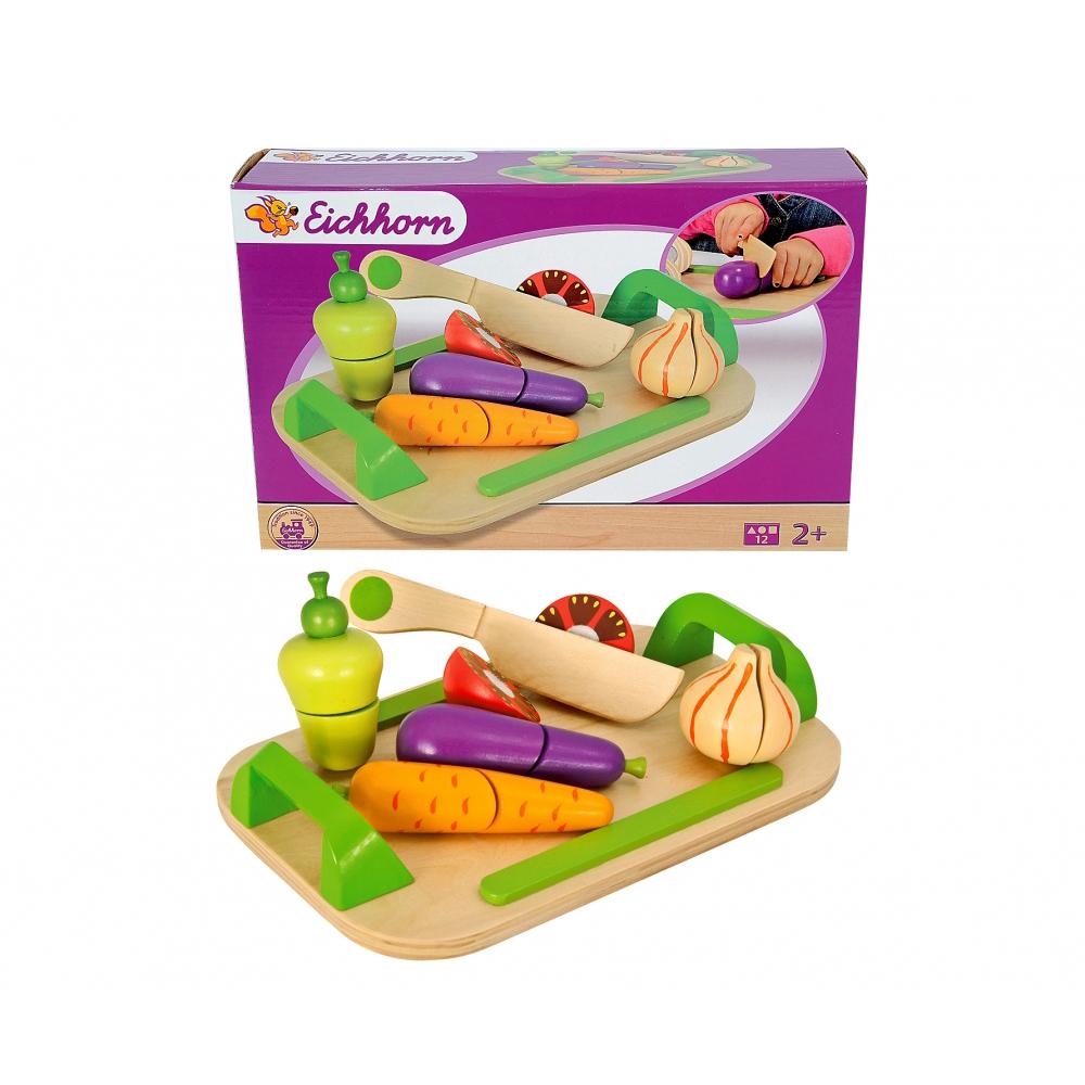 Игровой набор - Доска с овощами, 12 предметовАксессуары и техника для детской кухни<br>Игровой набор - Доска с овощами, 12 предметов<br>