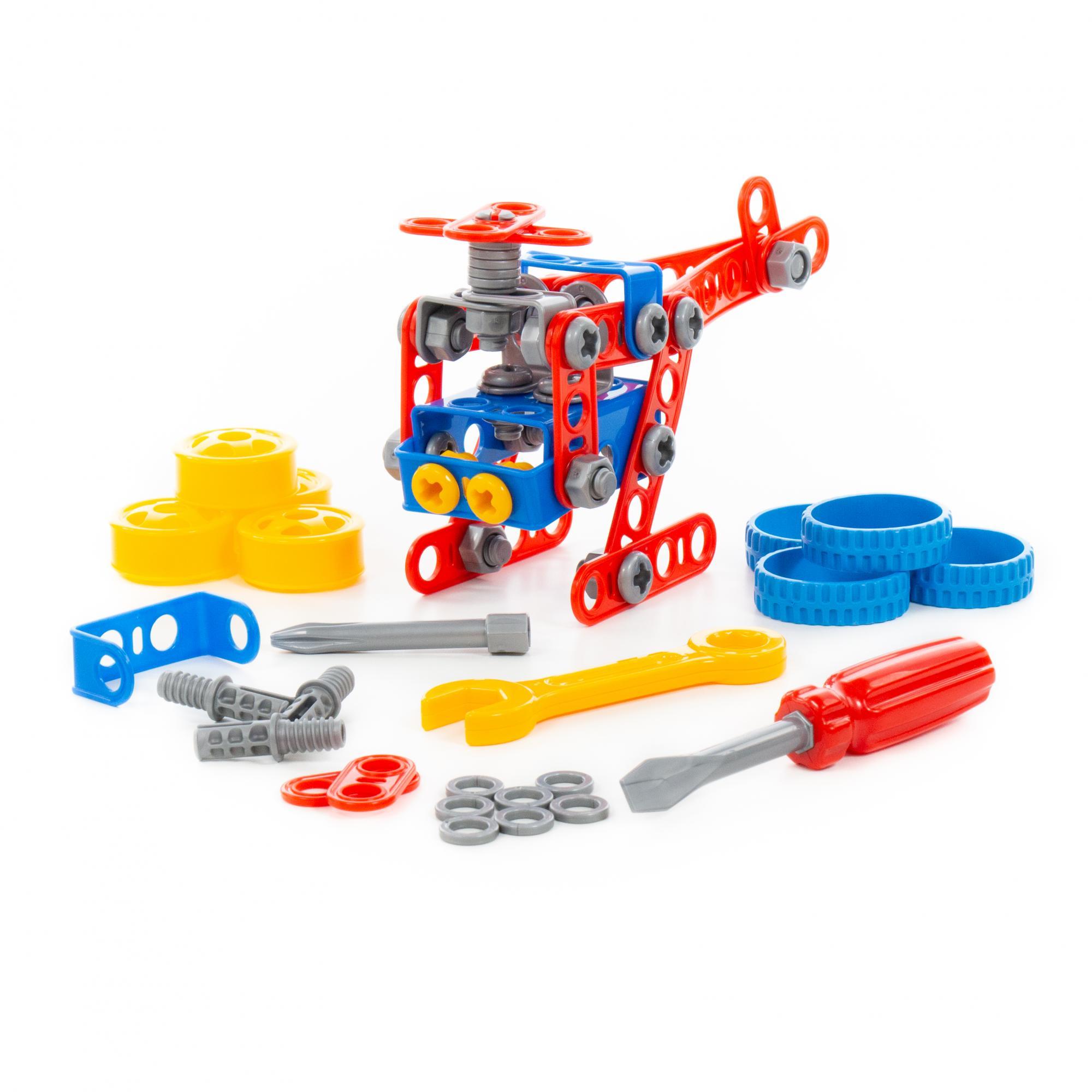 Купить Конструктор - Изобретатель, 91 элемент, в коробке, Полесье