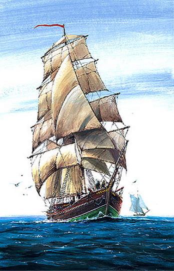 Модель для склеивания  Корабль Бригантина - Модели для склеивания, артикул: 98733
