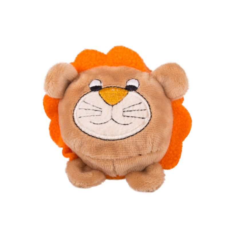 Мягкая игрушка Мячик – Лев, коричневый, 7 см