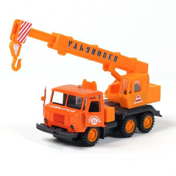 Металлическая инерционная машина – ГАЗ-66, оранжевый, свет и звукГородская техника<br>Металлическая инерционная машина – ГАЗ-66, оранжевый, свет и звук<br>