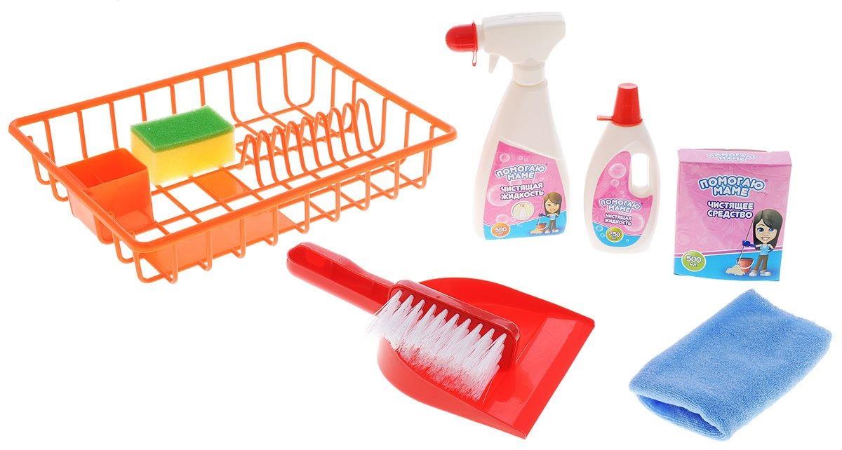 Помогаю маме. Набор Генеральная уборка, 8 предметовАксессуары и техника для детской кухни<br>Помогаю маме. Набор Генеральная уборка, 8 предметов<br>