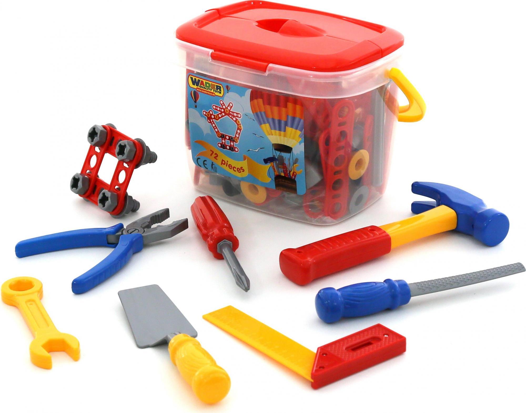 Набор инструментов №1, 72 элемента в ведёркеДетские мастерские, инструменты<br>Набор инструментов №1, 72 элемента в ведёрке<br>
