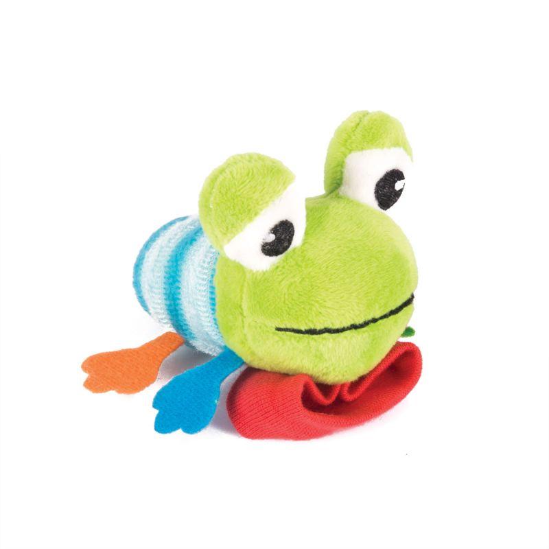 Купить Игрушка-погремушка на ручку - Лягушонок Квака, Happy Snail