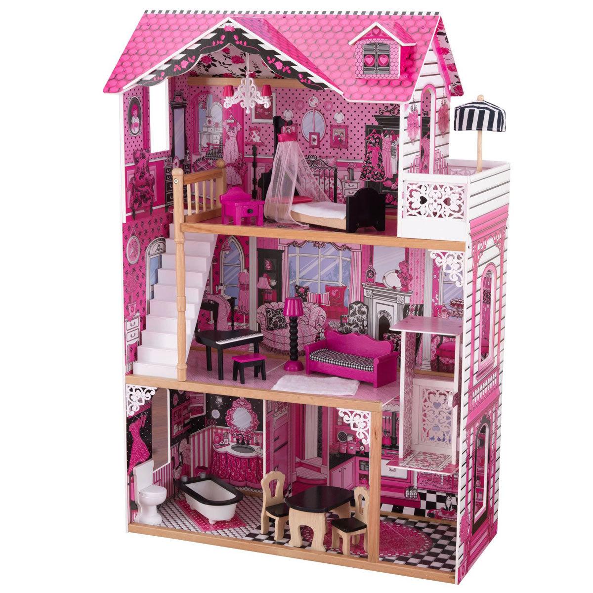 Купить Кукольный домик для Барби с мебелью Амелия, KidKraft