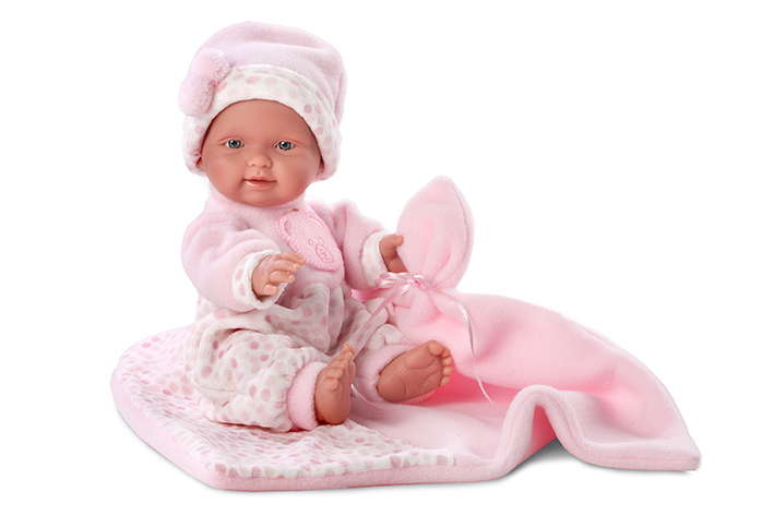 Кукла Бэбита Роза с одеялом 26 смИспанские куклы Llorens Juan, S.L.<br>Кукла Бэбита Роза с одеялом 26 см<br>