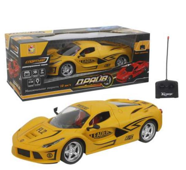 Купить Машина на радиоуправлении из серии Драйв, масштаб 1:16, 27 см, 4 канала, 27 МГц, АКБ 3, 6 V 700mAh, свет, матовый желтый, 1TOY