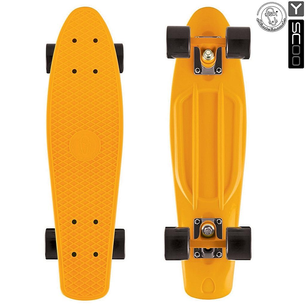 Скейтборд виниловый Y-Scoo Fishskateboard 22 401-O с сумкой, оранжевыйДетские скейтборды<br>Скейтборд виниловый Y-Scoo Fishskateboard 22 401-O с сумкой, оранжевый<br>
