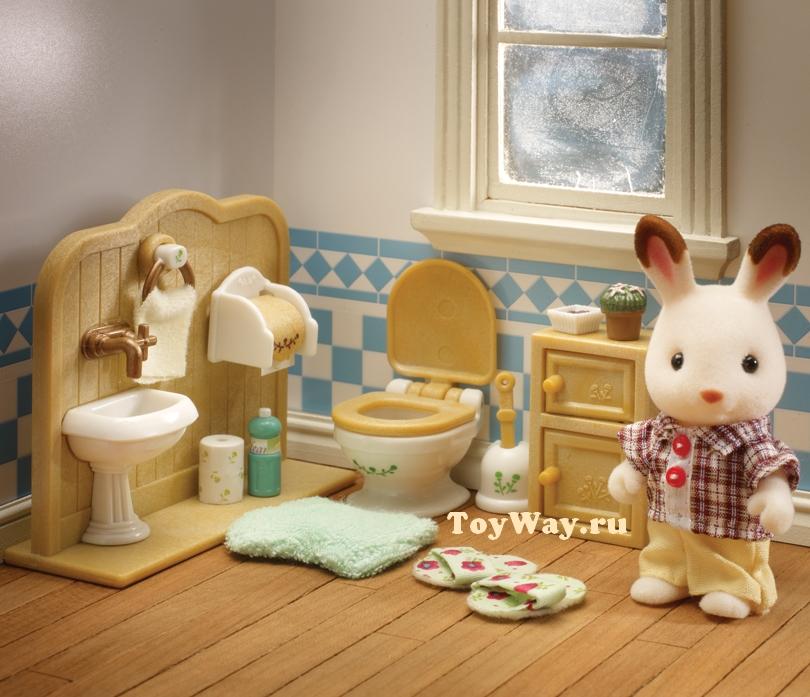 Sylvanian Families - Братик Кевин и туалетная комната