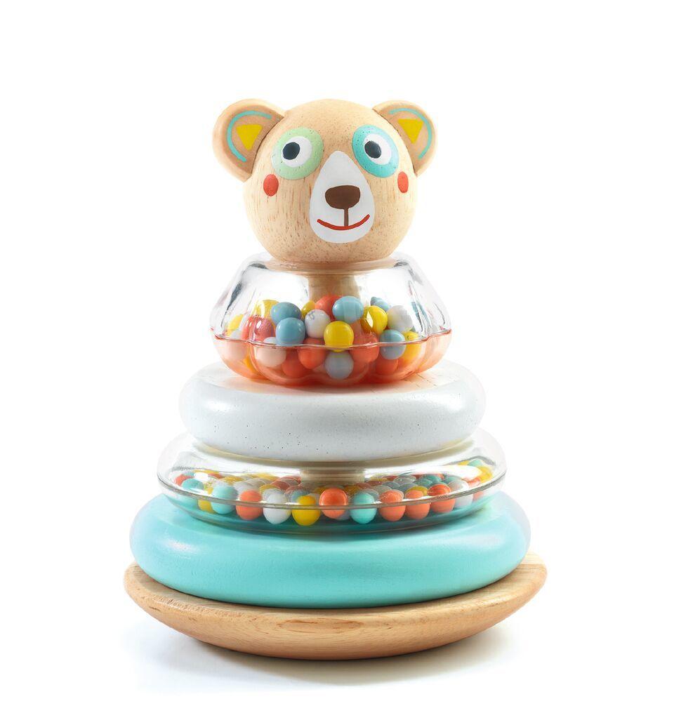 Купить Деревянная игрушка - Пирамидка Мишка, Djeco