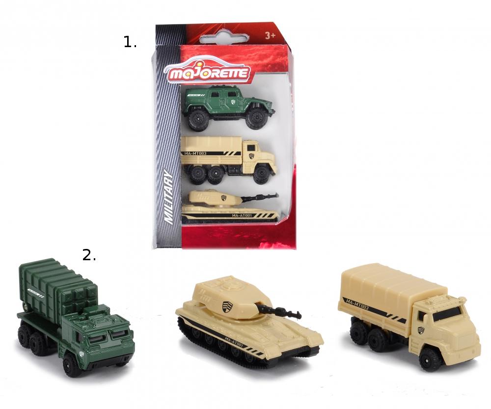 Набор военных машинок, 3 игрушки