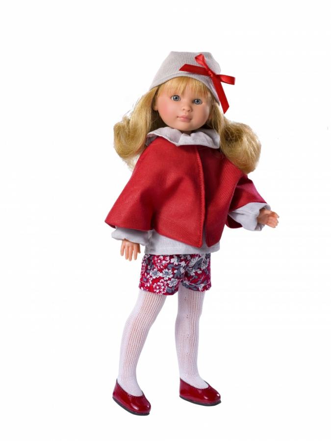 Кукла Селия в красной накидке, 30 см.Куклы ASI (Испания)<br>Кукла Селия в красной накидке, 30 см.<br>