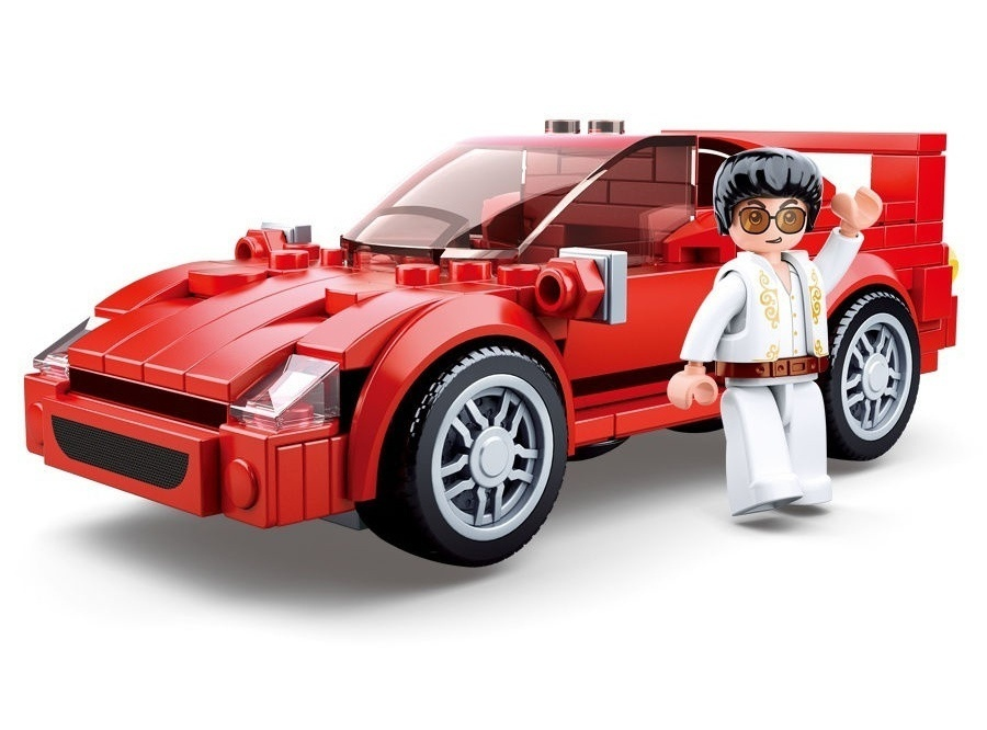 Конструктор - Модельки: спортивная машинка с фигуркой 163 детали.