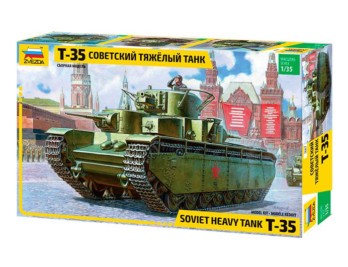 Купить Модель сборная - Советский тяжелый танк Т-35, ZVEZDA