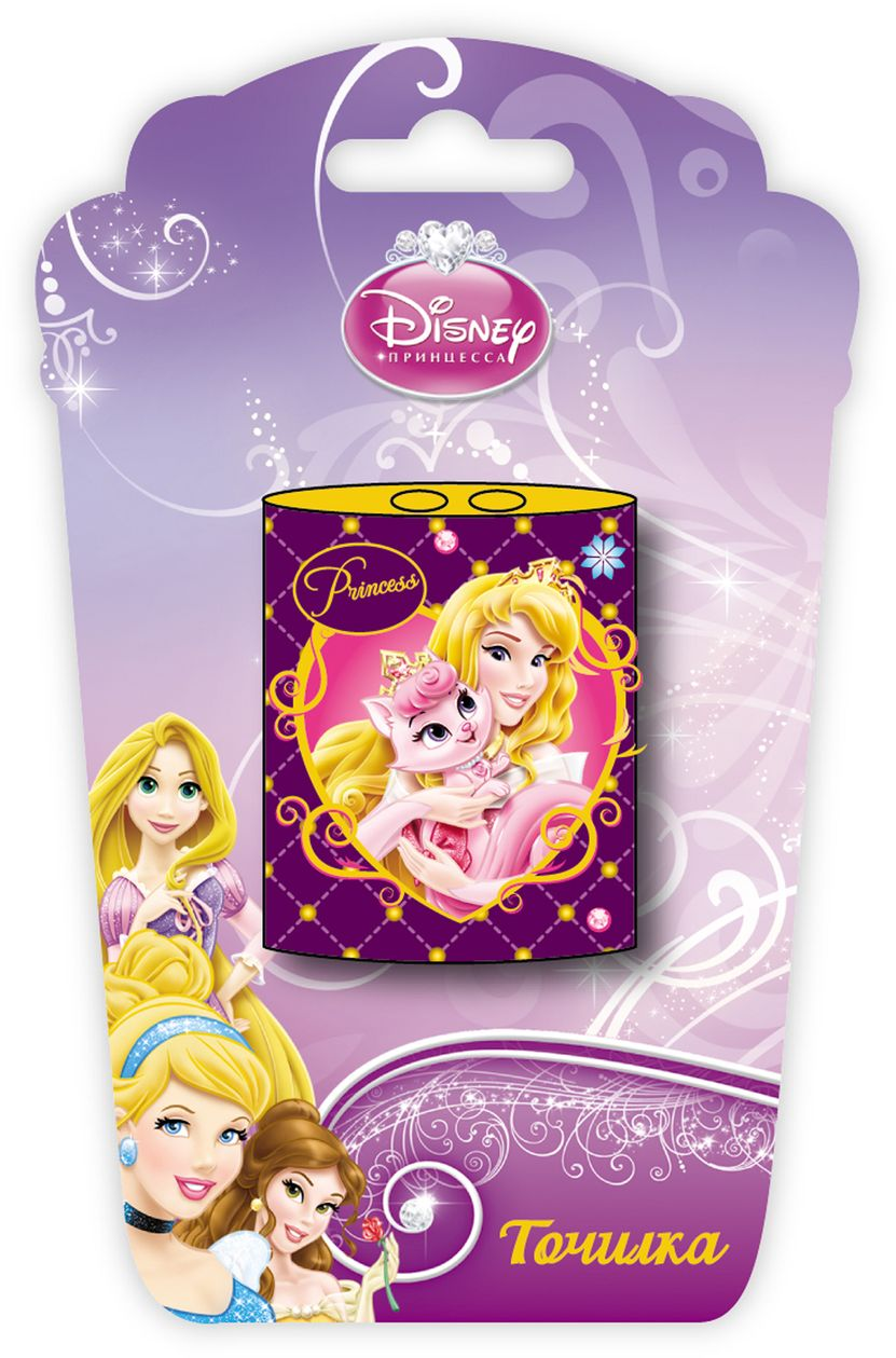 Точилка жестяная 2 отверстия «Disney Принцессы»Мелкая канцелярия<br>Точилка жестяная 2 отверстия «Disney Принцессы»<br>