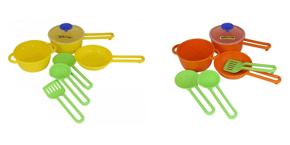 Набор детской посуды Поварёнок №1Аксессуары и техника для детской кухни<br>Набор детской посуды Поварёнок №1<br>