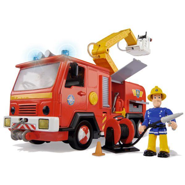 Машина со звуком, светом и функцией подачи воды из серии «Пожарный Сэм», с фигуркойПожарные машины, автобусы, вертолеты и др. техника<br>Машина со звуком, светом и функцией подачи воды из серии «Пожарный Сэм», с фигуркой<br>