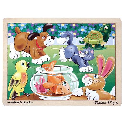 Мои первые пазлы - Шаловливые животные, 12 элементовПазлы для малышей<br>Мои первые пазлы - Шаловливые животные, 12 элементов<br>