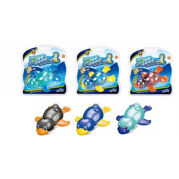 Игры с водой – Плавающий пингвин с подсветкойИнтерактивные игрушки для ванны<br>Игры с водой – Плавающий пингвин с подсветкой<br>