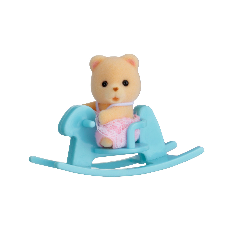 Купить Sylvanian Families. Младенец в пластиковом сундучке - Медвежонок на качалке, Epoch