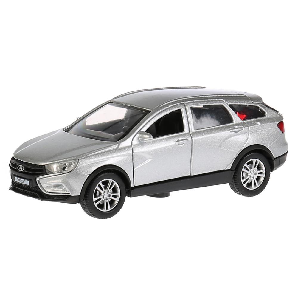 Купить Машина металлическая Lada Vesta Sw Cross, 12 см, открываются двери и багажник, инерционная, Технопарк