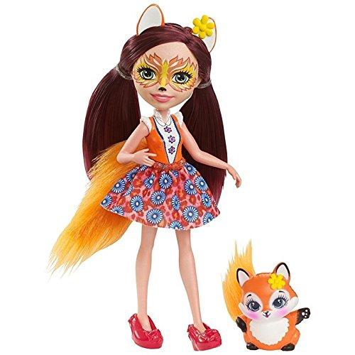 Кукла Enchantimals с питомцем - Фелисити Лис, 15 смКуклы Enchantimals (Энчантималс)<br>Кукла Enchantimals с питомцем - Фелисити Лис, 15 см<br>