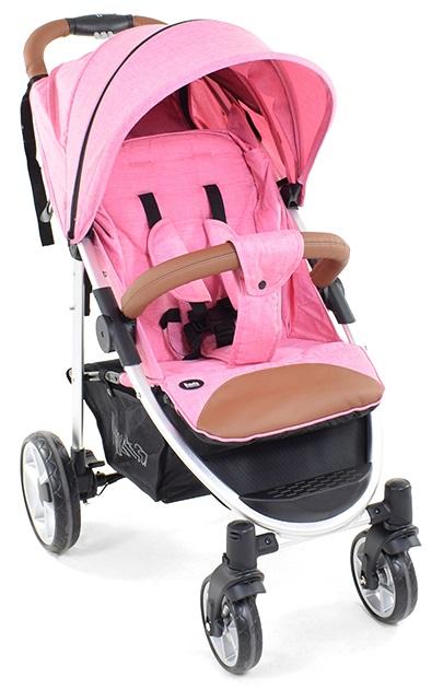 Прогулочная коляска Nuovita Corso, цвет розовый, шасси серебристое фото