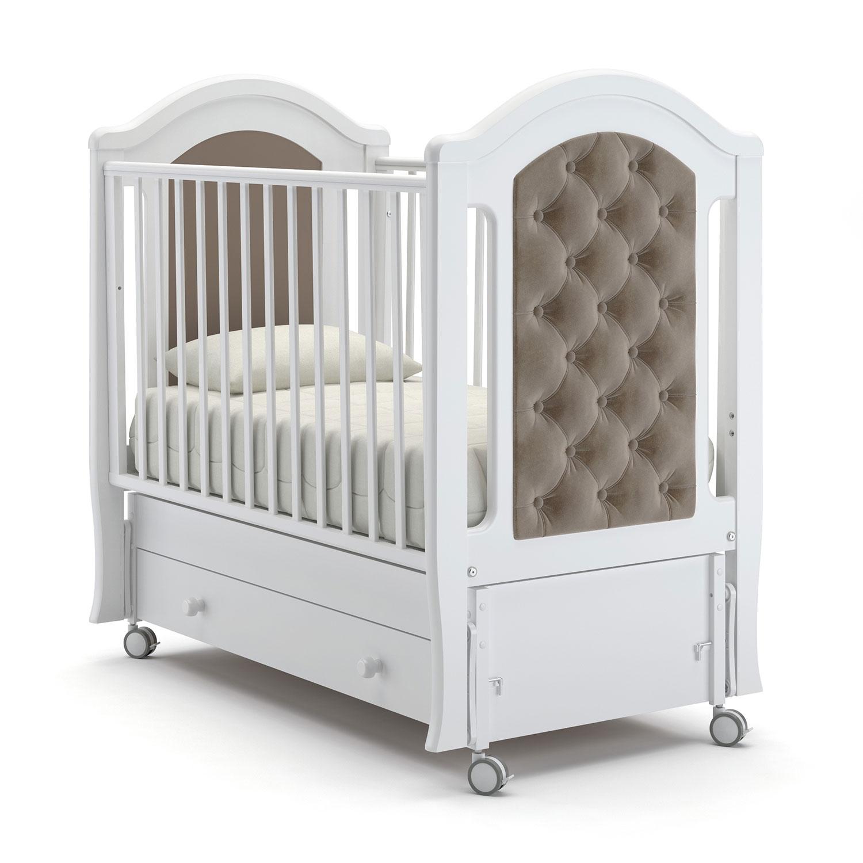 Детская кровать Nuovita Grazia swing продольный маятник, цвет - Bianco/Белый