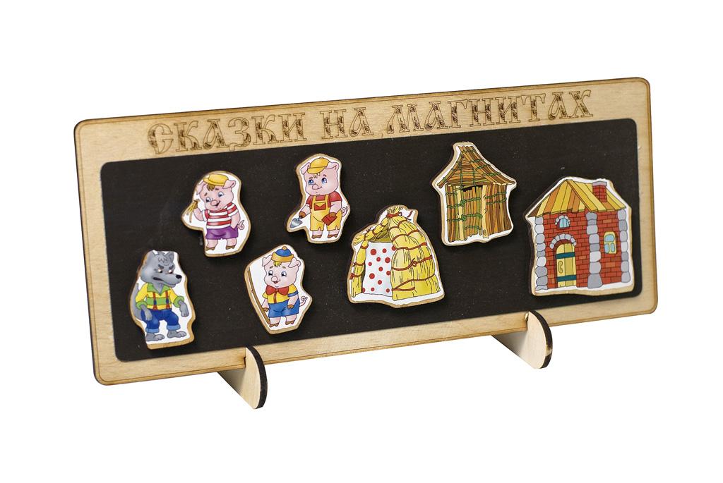 Сказки на магнитах - Три поросенкаДетский кукольный театр <br>Сказки на магнитах - Три поросенка<br>