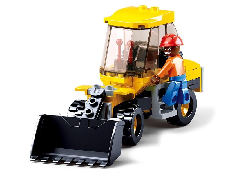 Конструктор – Город: трактор с фигуркой 91 деталь.