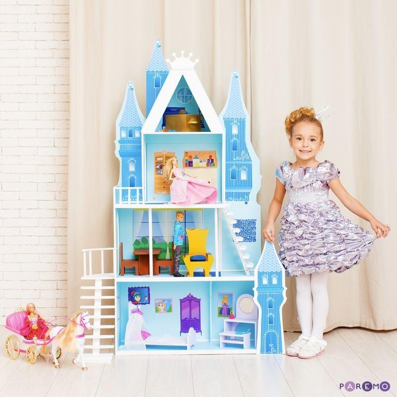 Купить Кукольный дворец - Горный хрусталь, 16 предметов мебели и текстиль, Paremo