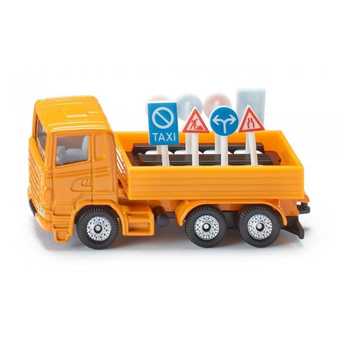 Купить Металлический грузовик с дорожными знаками, 1:87, Siku