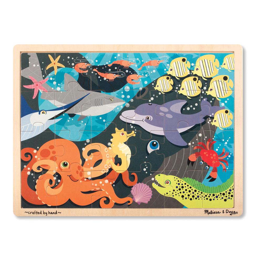 Купить Мои первые пазлы - Животные океана, 24 элемента, Melissa&Doug