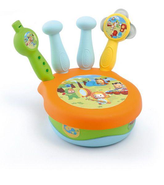 Набор музыкальных инструментовРазвивающие игрушки Smoby Cotoons<br>Развивающая игрушка из серии Cotoons «Музыкальные инструменты для малышей» фирмы Smoby представляет собой набор из 3-х инструментов. Теперь малы...<br>