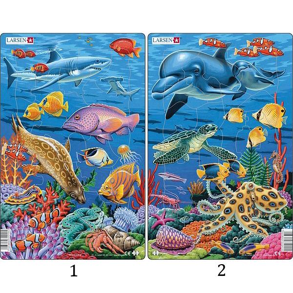 Купить Пазл - Коралловый риф, 25 элементов, 2 варианта, Larsen