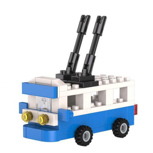 Купить Конструктор «Tроллейбус» из серии «Легко сложить», Город мастеров