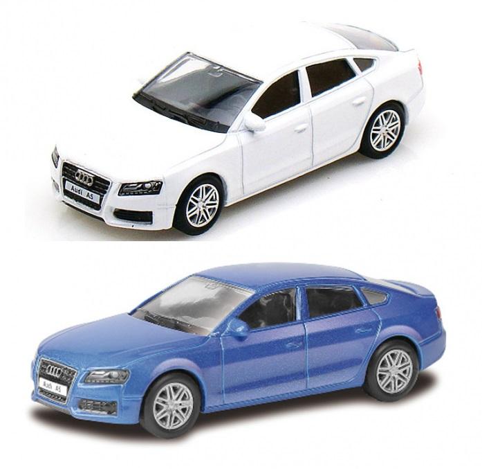 Машина металлическая Audi A5 2011, 1:64, 2 цвета - белый, синийAudi<br>Машина металлическая Audi A5 2011, 1:64, 2 цвета - белый, синий<br>