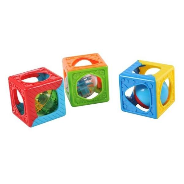 Игровой центр - Развивающие кубики-погремушкаРазвивающие игрушки PlayGo<br>Игровой центр - Развивающие кубики-погремушка<br>