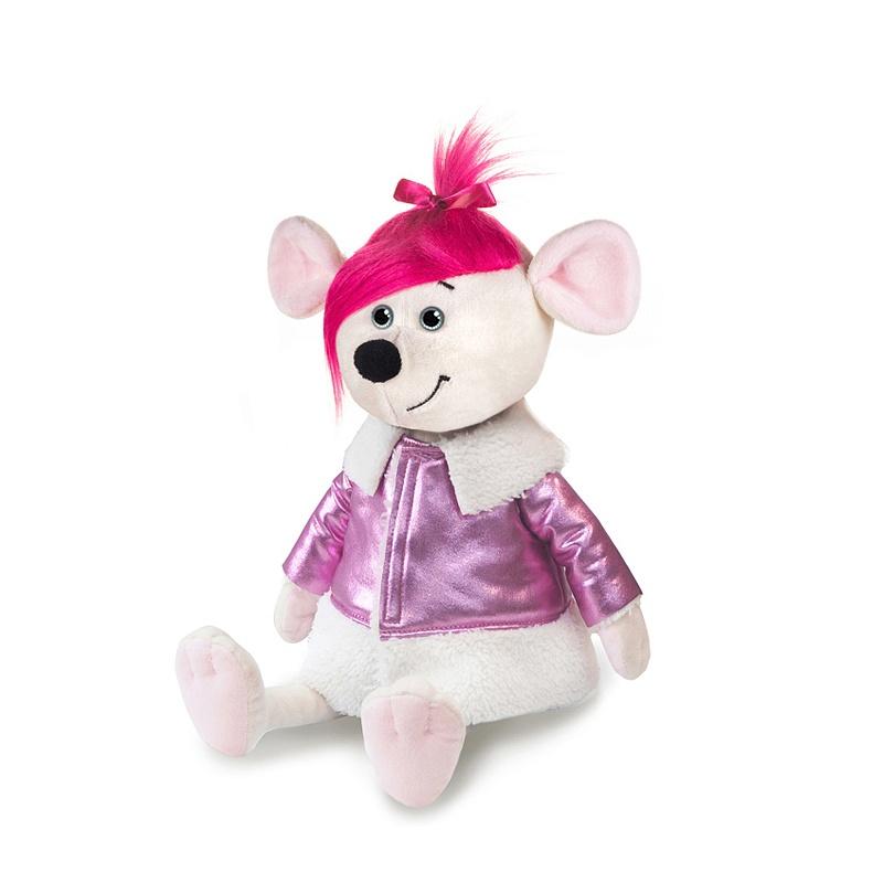 Мягкая игрушка - Мышка Аллочка в дубленке, 21 см