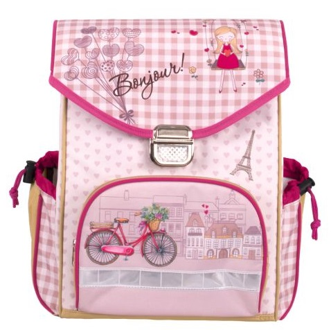 Рюкзак школьный Gulliver Бонжур, розовый фото