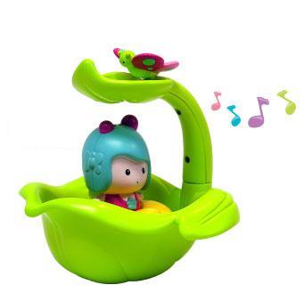 Ouaps Мими - листочек/фонтан, интерактивная игрушка для ванной