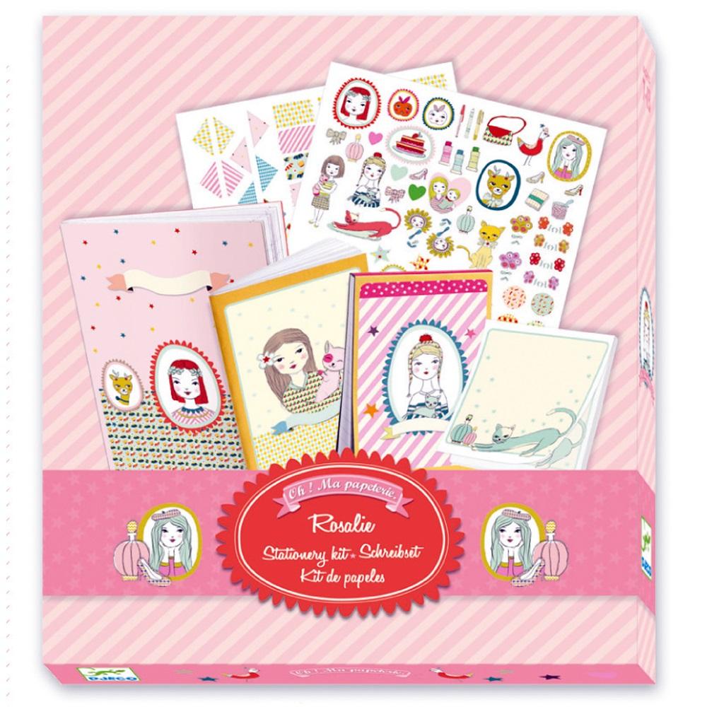 Набор для записей – Розали, с блокнотами и листочкамиЗадания, головоломки, книги с наклейками<br>Набор для записей – Розали, с блокнотами и листочками<br>