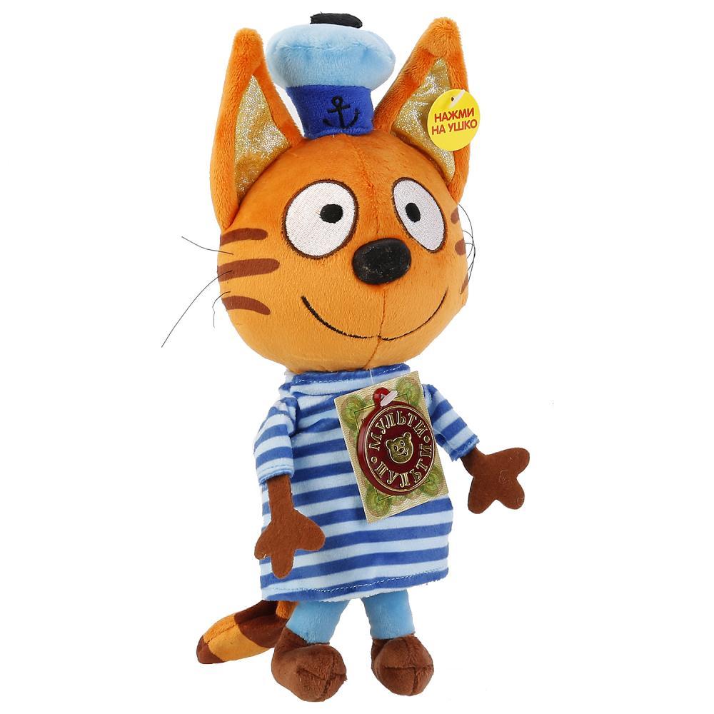 Купить Мягкая игрушка – Коржик из серии 3 кота, озвученный, 18 см., Мульти-Пульти