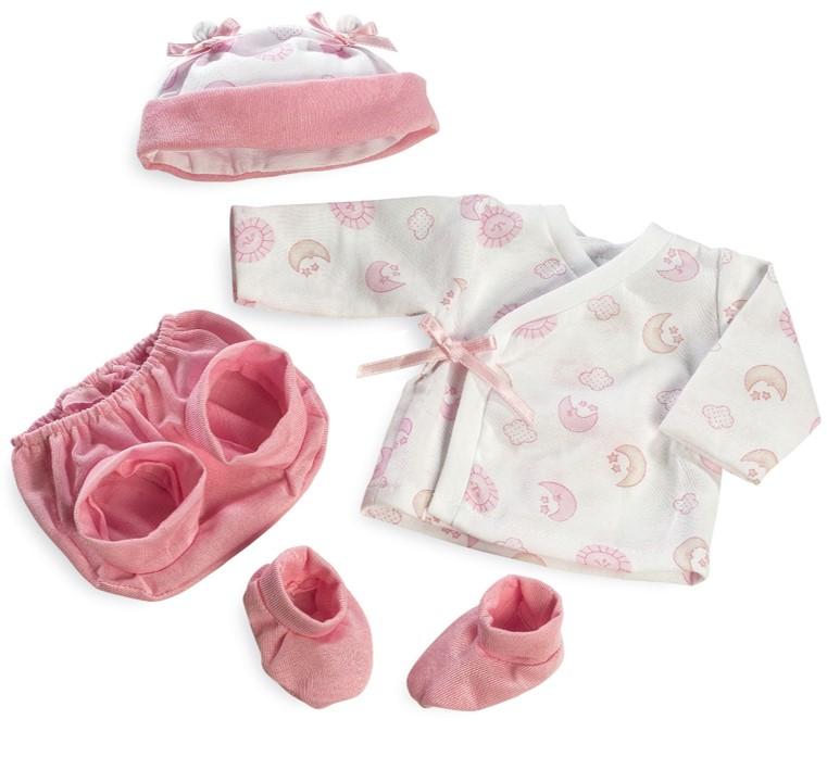 Набор одежды для куклы из коллекции Elegance: шапочка, штанишки, пинетки, кофточка