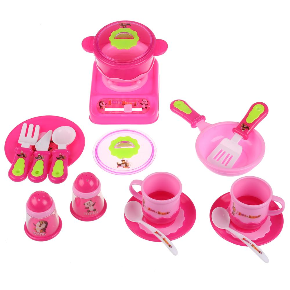 Купить Набор посуды из серии Маша и Медведь с колпаком и фартуком, Играем вместе