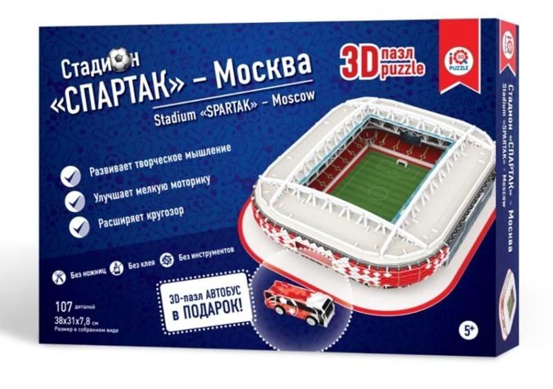 Купить Сборный 3D пазл из пенокартона – стадион Москва Спартак, IQ 3D Puzzle