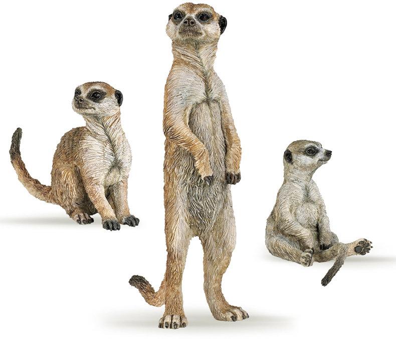 Набор из 3 сурикатов, 18 смДикая природа (Wildlife)<br>Набор из 3 сурикатов, 18 см<br>