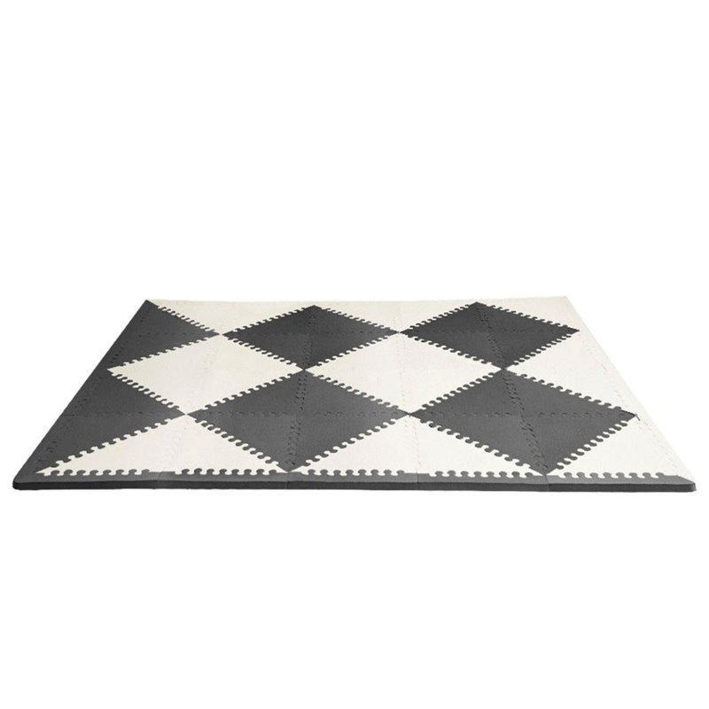 Напольный коврик Гео, черный/кремовыйКоврики-пазлы<br>Напольный коврик Гео, черный/кремовый<br>