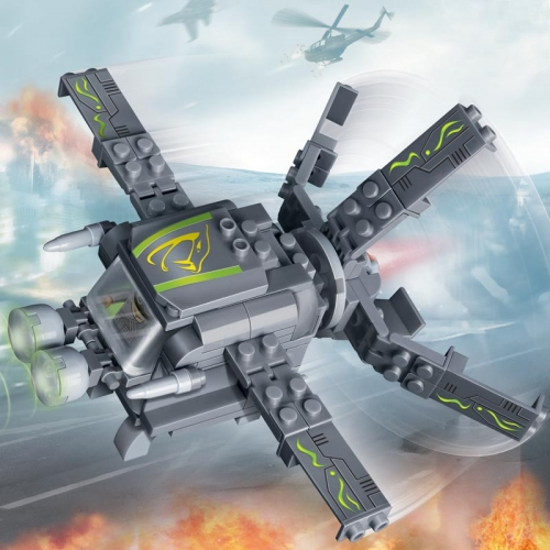 Конструктор - Военный самолет, 112 деталейКонструкторы BANBAO<br>Конструктор - Военный самолет, 112 деталей<br>